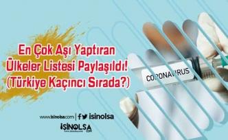 En Çok Aşı Yaptıran Ülkeler Listesi Paylaşıldı! (Türkiye Kaçıncı Sırada?)