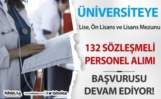 Üniversiteye 132 Lise, Ön Lisans Lisans Mezunu Sözleşmeli Personel Alımı Devam Ediyor