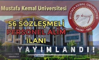 Hatay Mustafa Kemal Üniversitesi 56 Sözleşmeli Personel Alımı Yapıyor