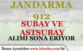 Jandarma 912 Subay ve Astsubay Alımı Sona Eriyor