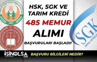 3 Kurum ( SGK, HSK ve Tarım Kredi ) Kamuya 485 Devlet Memuru Alımı Başladı!