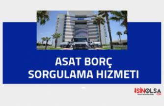 Asat (Antalya) Borç Sorgulama Hizmeti (2019)