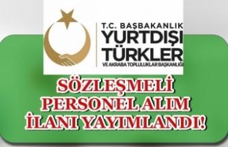Kültür Bakanlığı YTB Sözleşmeli Personel Alım İlanı Yayımlandı! KPSS ile