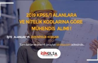 KPSS 2019/1 Alanlara ve Nitelik Koduna Göre Mühendis Alımı Yapan Kurumlar