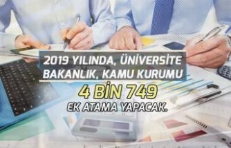2019'da Bakanlık ve Kurumlara 3 Bin 800, Üniversitelere 914 Memur Alımı Daha Yapılacak!