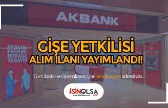 Akbank Şubesine Gişe Yetkilisi Alım İlanı Yayımladı!
