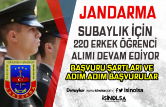 Jandarma Subaylık İçin 220 Erkek Öğrenci Alımı Devam Ediyor! Şartlar?