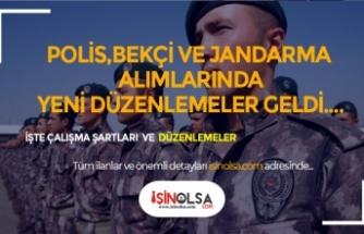 Polis, Bekçi ve Jandarma Alımlarında Yeni Düzenleme