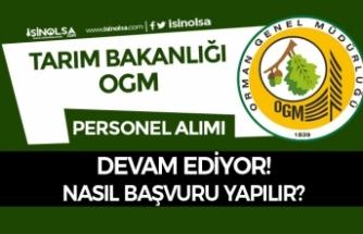 Tarım Bakanlığı OGM KPSS Şartı Olmadan Personel Alımı Devam Ediyor