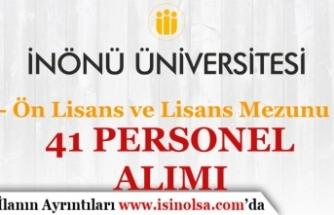 İnönü Üniversitesi Kadın Erkek 41 Personel Alımı Yapıyor! Başvurular Başladı!