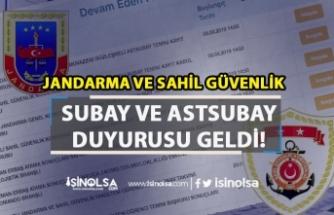 Jandarma ve Sahil Güvenlik 2019 yılı Subay Ve Astsubay Duyurusu Geldi!