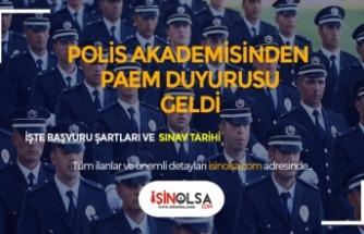 Polis Akademisinden Duyuru! PAEM 2 Eylül'de Yapılacak