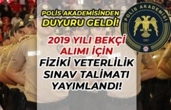 2019 Yılı Bekçi Alımı Fiziki Yeterlilik Sınav Duyurusu Yayımlandı! İşte Parkur