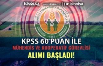 Tarım Kredi KPSS 60 Puan İle Kooperatif Görevlisi ve Mühendis Alımları Başladı!
