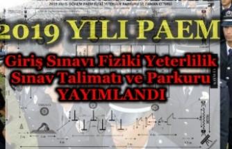 2019/5 PAEM Fiziki Yeterlilik Sınav Talimatı ve Parkuru Yayımlandı!