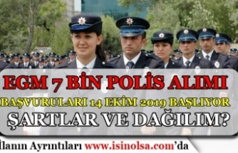 EGM 7 Bin Polis Alımı Başvuruları 14 Ekim Başlıyor! Şartlar ve Dağılım Nedir?