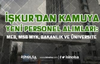 İŞKUR'dan Yeni Personel Alım İlanlar: MEB, MSB MYK, Bakanlık ve Üniversite