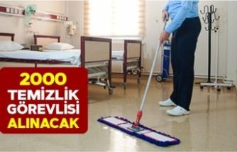 En Az Okuryazar Seviyesinde Kamu ve Özel Sektöre 2000 Temizlik İşçisi Alınacak