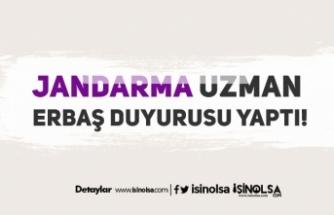 Jandarma 2019-1 Dönem 2. Grup Uzman Erbaş Duyurusu Yaptı!