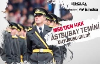 Milli Savunma Bakanlığı HKK Muvazzaf Astsubay Temini Duyurusu Yaptı