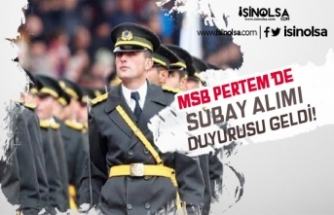 MSB PERTEM'den DKK Mühendis ve Öğretmen Sınıfı Subay Alımı Duyurusu Geldi!
