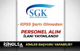 Sosyal Güvenlik İl Müdürlüğü İŞKUR Aracılığı İle Personel Alacak