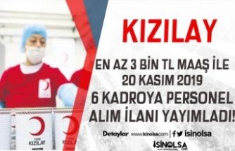 Türk Kızılayı En Az 3 Bin TL Maaş İle 6 Yeni Personel Alım İlanı Yayımladı! 20 Kasım