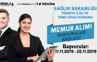 Türkiye İlaç ve Tıbbi Cihaz Kurumu Memur Alımı Başvuruları Başladı