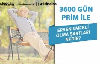 3600 Gün Prim ile Erken Emekli Olma Şartları Nelerdir?