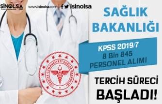 Sağlık Bakanlığı KPSS 2019/7 İle 8845 Personel Alımı Tercihleri Başladı!