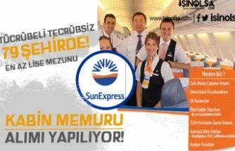 SunExpress 79 Şehirde Tecrübeli Tecrübesiz Kabin Memuru Alım İlanı