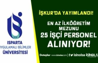 Uygulamalı Bilimler Üniversitesi (ISUBÜ) 8 Kadro İle 25 Personel Alıyor
