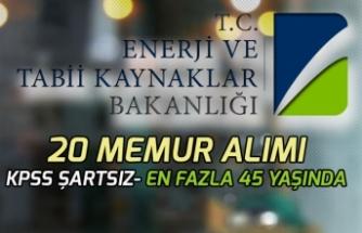 Enerji ve Tabii kaynaklar Bakanlığına KPSS'siz 20 Memur Alımı İlanı Açıklandı!