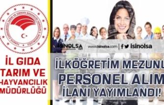 İŞKUR İle İl Tarım Müdürlüğü KPSS'siz Personel Alım İlanı Yayımlandı