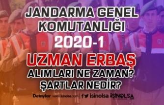 Jandarma 2020-1 Sözleşmeli Uzman Erbaş Alımları Ne Zaman Yapılacak?