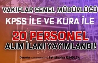 Kültür Bakanlığı VGM En Az İlkokul Mezunu 20 Personel Alımı Yapacak!