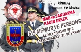 MSB ve Jandarma 38 Sivil Memur ve 481 Askeri Personel Alıyor! Şartlar ve Dağılım?