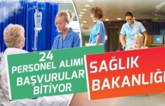 Sağlık Bakanlığı 24 Memur Alımı Başvuruları 27 Ocak Tarihine Bitiyor!