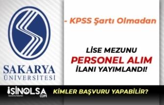Sakarya Üniversitesi Lise Mezunu Temizlik Görevlisi Alıyor! Başvurular Başladı