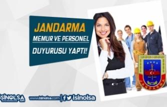 Jandarma Sözleşmeli Personel ve Devlet Memuru Duyurusu Yaptı
