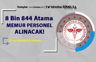 KPSS 2020/4 Ataması ile 8 Bin 844 Memur Alımı Yapılacak