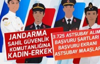 MSB Jandarma 3550 ve Sahil Güvenlik 175 Astsubay Alımı Başvuru Şartları