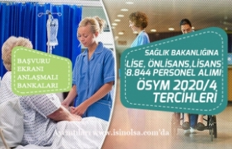 Sağlık Bakanlığı 2020/4 ÖSYM Tercihleri 8.844 Memur Alımı Başvuru Ekranı!