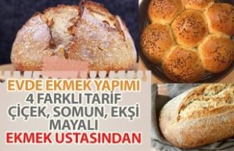 Evde Ekmek Yapımı Tarifi İpuçları! Makinesiz, Ekşi Mayalı, Somun, Çiçek!