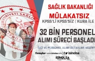 Hastanelere Mülakatsız Kura İle KPSS'siz ve KPSS İle 32 Bin Memur Personel Alımı 2020 Başladı!