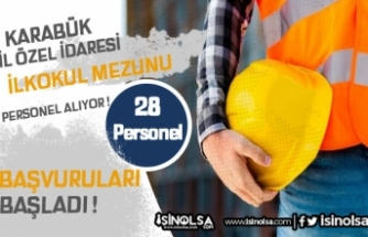 İl Özel İdaresine KPSS Şartsız İlkokul Mezunu 28 Personel Alınacak!