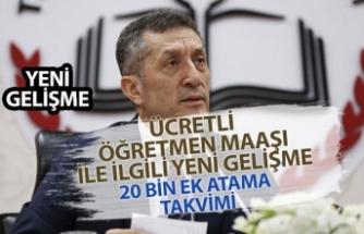 MEB Ücretli Öğretmen Maaşı Ödemesi ve 20 Bin Ek Atama Takvimi Açıklaması