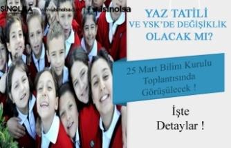 Yaz Tatilinin Erkene Alınması ve YKS- LGS 2020 Sınavı