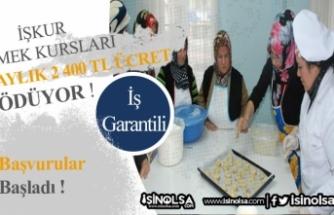 İŞKUR Türkiye Geneli MEK Kursları ile Ayda 2 Bin 400 TL'ye Kadar Ücret Ödüyor!
