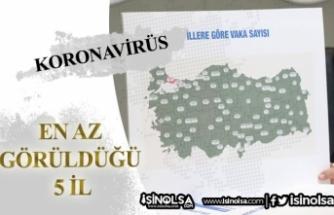Koronavirüs Vakasının En Az Yaşandığı 5 İl